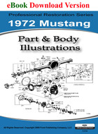 1972 Ford Mustang Part & Body Illustrations Manual