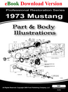 1973 Ford Mustang Part & Body Illustrations Manual