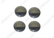 1964-1968 Ford Mustang door face plug, nickel plated steel, set of four.