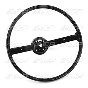 1970-1973 Ford Mustang standard 2-spoke steering wheel.