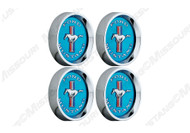 Legendary wheel tri-bar center cap set, blue.