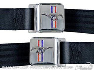 1964-1973 After market seat belts with Mustang emblem