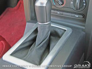 2005-2007 Ford Mustang stamped aluminum shift boot trim, for 5 speed