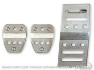 2005-2014 Pedal Covers, Manual Billet, 3 piece set