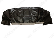 1964-1973 Ford Mustang convertible well liners, black.  Exact fit. Heavy duty textured vinyl.