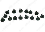 1969-1970 Ford Mustang convertible well liner screws, set of 15.
