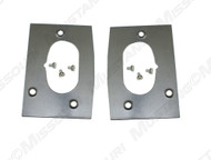 1967-1968 Ford Mustang door latch repair plate, pair.