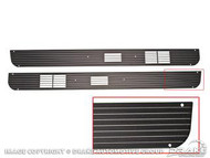 1967-1968 Ford Mustang door speaker grill molding, pair.
