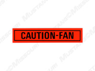 1968-73 Caution Fan Decal