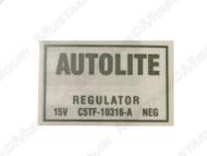 1965-66 Voltage Regulator Decal wAir