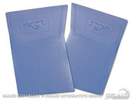 1964-73 Rubber Floor Mats Blue