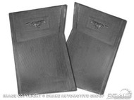 1964-73 Rubber Floor Mats Black