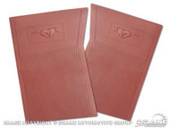 1964-73 Rubber Floor Mats Dark Red