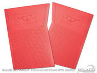1964-73 Rubber Floor Mats Bright Red