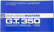 1965 Ford Mustang Shelby Owners Manual, High Performance