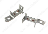"""1967 Ford Mustang bottom radiator mounting brackets, pair.   Fits all 1967 models with 24"""" radiator."""