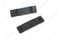 1968-1970 Ford Mustang radiator lower mounting bracket pads, pair.  Made by Daniel Carpenter Mustang Reproductions.