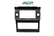 1969-1970 Ford Mustang radio bezel.  Camera case black finish.