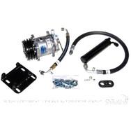 1966 Ford Mustang Sanden compressor conversion kit for V8 engines.  Uses R134a refrigerant.