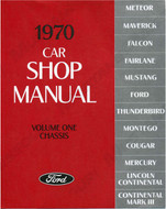 1970 Ford Mustang Shop Manual Set of 5 books