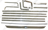1965-68 Fold Down Seat Chrome Molding Set