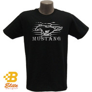 Ford Mustang grille horse and corral t-shirt, 100% pre-shrunk cotton.