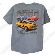 Who's The Boss Mustang t-shirt. Back