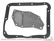1965-1969 Ford Mustang transmission filter with gasket, C-4 transmission, kit.