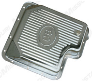 1967-1973 Ford Mustang chrome transmission pan, C-6 transmission, aftermarket.