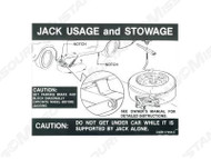 1969-70 Jacking Instructions Decal