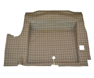 1964-1966 Ford Mustang molded rubber trunk mat, plaid, concours correct.