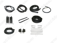 1967-1968 Ford Mustang Coupe weatherstrip kit, basic.