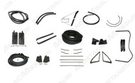 1967-1968 Ford Mustang Convertible deluxe weatherstrip kit.