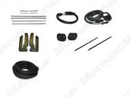 1969-1970 Ford Mustang Convertible weatherstrip kit, basic.