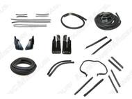 1971-1973 Ford Mustang Convertible weatherstrip kit, basic.