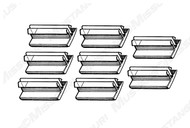 1969-1970 Ford Mustang window guide, set of 8.  Eight guides required per door.