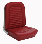 1964-1965 Ford Mustang coupe, convertible and fastback standard front bucket upholstery. Covers the two front buckets.