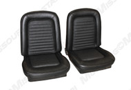 1966 Ford Mustang coupe, convertible and fastback front buckets, standard upholstery, pair. Covers both front seats.