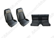 1970 Ford Mustang Mach I upholstery set. Covers two front buckets and rear seat. Fits fastback models only. Made in USA.