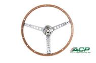 1967 Deluxe Woodgrain Steering Wheel