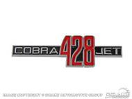 1969-70 Shelby 428CJ Fender Emblem