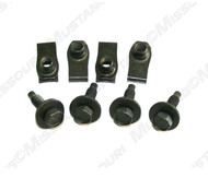 1964-1968 Ford Mustang radiator mounting bolts and nuts, 8 piece kit.