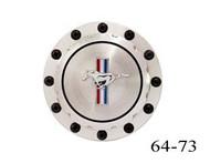 1964-73 Custom Billet Gas Cap Horse