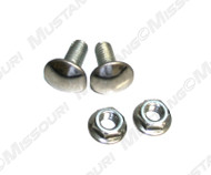 1964-1970 Ford Mustang small outer bumper bolts and nuts, 4 pieces.  Mounts the end of the bumper to the fender.