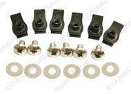1971-1972 Ford Mustang front bumper bolt kit, 18 piece kit.  Fits models with urethane front bumper.