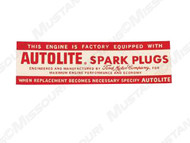 1964 Autolite Spark Plugs Decal