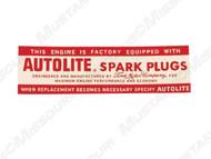 1964 Autolite Spark Plugs Decal