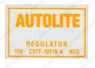 1967 Voltage Regulator Decal