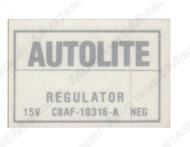 1968-70 Voltage Regulator Decal non Air