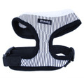 """Captain Pooch"" Nautical Stripe Dog Harness (Black)"